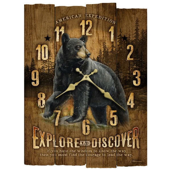 American Wooden Wall Clock