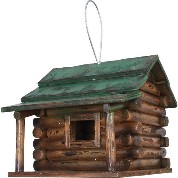 River's Edge Log Cabin Birdhouse