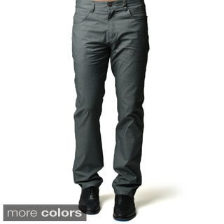 Men's Navy Blue or Grey Casual Slim-fit Pants