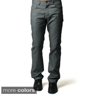 Men S Navy Blue Or Grey Casual Slim Fit Pants