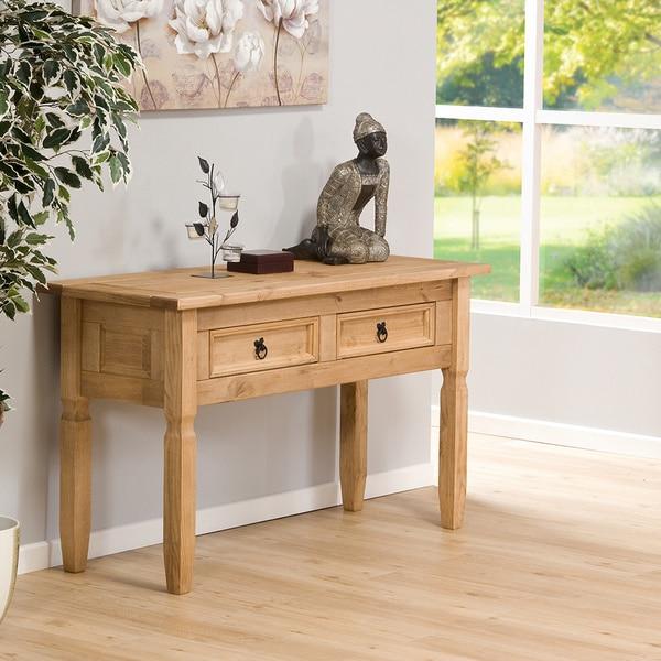Bennington Pine Furniture Safavieh Lahoma Light Oak Console