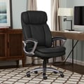 Serta Executive Smooth Black Big and Tall Puresoft Faux Leather Office Chair