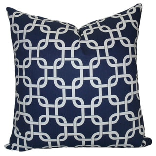 Taylor Marie Chain Link Design Cotton Throw Pillow Cover