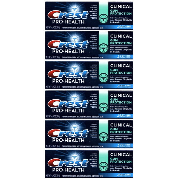Crest Pro-Health Clinical Gum Protection Clean Mint 4-ounce Toothpaste (Pack of 6)
