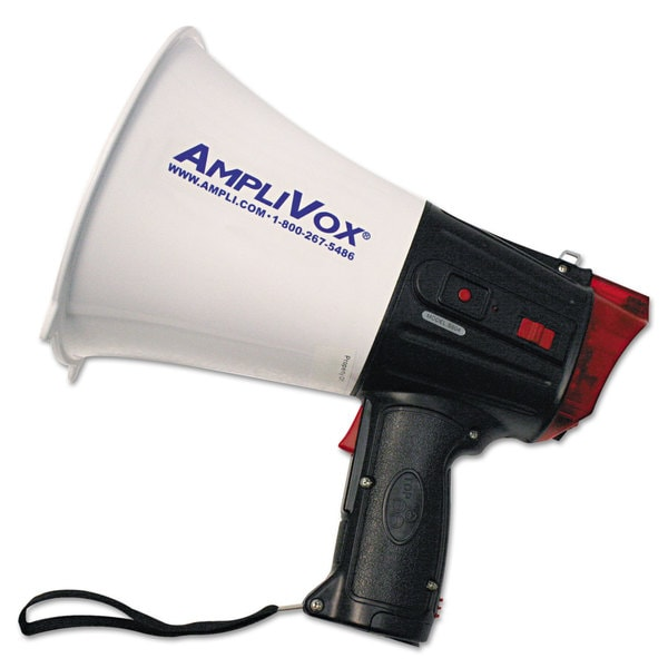 AmpliVox 10W Safety Strobe Light Megaphone