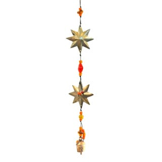 Handmade Double Stars Wind Chime (India)