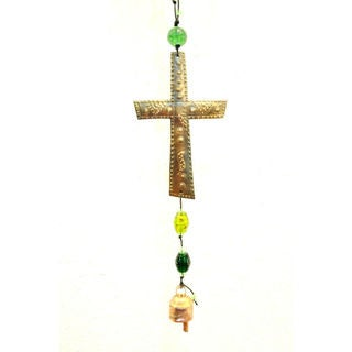 Handmade Cross Design Wind Chime (India)