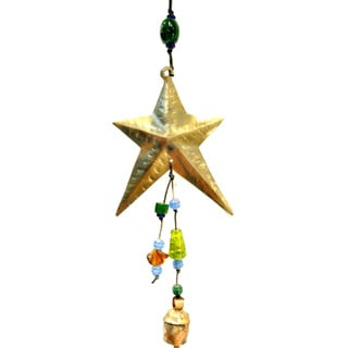 Handmade Shining Star Wind Chime (India)