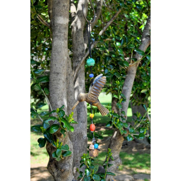 Handmade 3D Flying Hummingbird Wind Chime (India)
