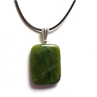 Every Morning Design Canadian Jade Leather Cord Necklace
