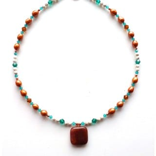Every Morning Design Autumn Quartz Beaded Gemstone Necklace