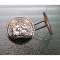 Handmade Antiqued Silvertone Men's Nevada State Quarter Cuff links