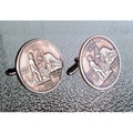 Handmade Antiqued Coppertone Men's California State Quarter Cuff links