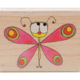 "Penny Black Mounted Rubber Stamp 2""X2.5""-Flutterfly"