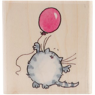 "Penny Black Mounted Rubber Stamp 2.25""X2.25""-Fuzzy Balloon"