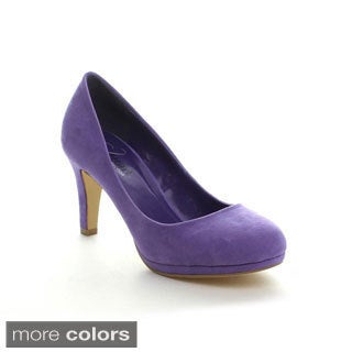 I Heart Collection Women's Chloe Round-toe Pumps