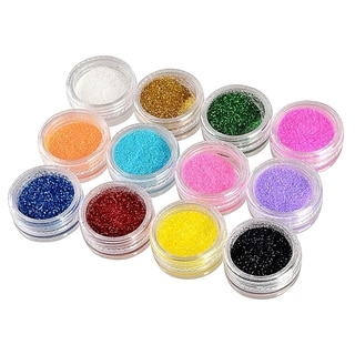 INSTEN 12-color set Plastic Beads DIY Nail Art Glitter Beads Decoration