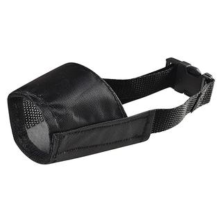 INSTEN Black Size 1 Strong Fabric Nylon Soft Comfortable Dog Muzzle