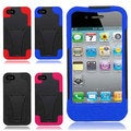BasAcc Dual Layered Stand Hybrid Cover Case for Apple iPhone 4GS 4G CDMA GSM