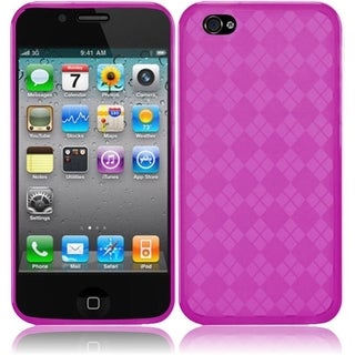 INSTEN Pink Argyle TPU Rubber Candy Skin Phone Case Cover for Apple iPhone 4/ 4S