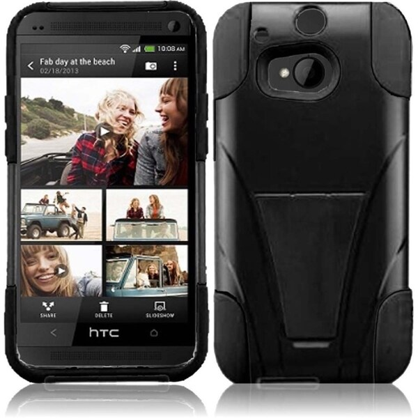 INSTEN Dual Layered Protective Stand Hybrid Cover Phone Case Cover for HTC One M8