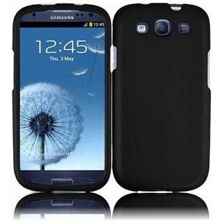 BasAcc Hard Plastic Rubberized Cover Case for Samsung Galaxy S3/ S III