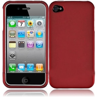 BasAcc Red Rubberized Hard Snap-on Phone Case Cover for Apple iPhone 4/ 4S