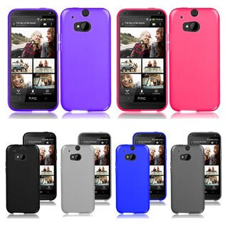 INSTEN Frosted Colorful TPU Rubber Gel Skin Cover Phone Case Cover for HTC One M8