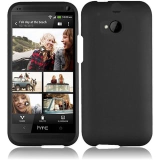 BasAcc Hard Plastic Rubber Coated Rubberized Cover Case for HTC One M8