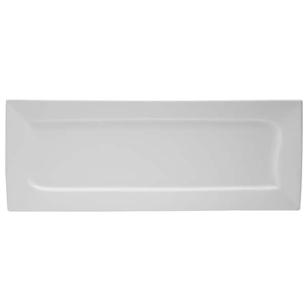 Red Vanilla Niagara White Rectangular Plate