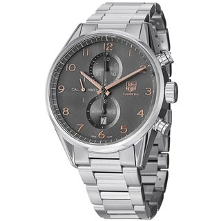 Tag Heuer Men's CAR2013.BA0799 'Carrera' Grey Dial Stainless Steel Quartz Watch
