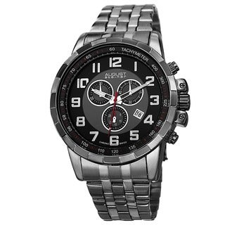 August Steiner Men's Swiss Quartz Chronograph Stainless Steel Bracelet Watch