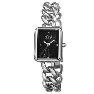 Burgi Women's Swiss Quartz Diamond Chain Link Bracelet Watch