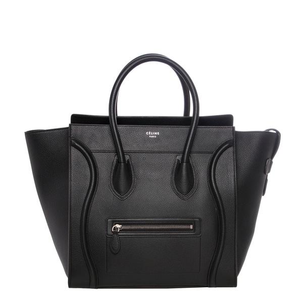 Celine Textured Leather Black Luggage Tote
