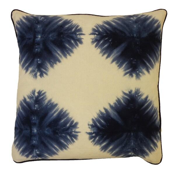 20 x 20-inch Tie-dye Kites Indigo Decorative Throw Pillow