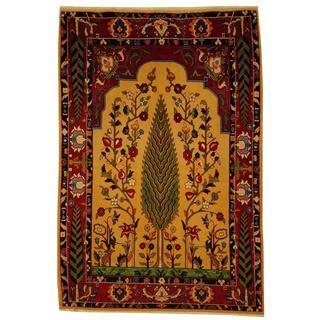 Herat Oriental Persian Hand-knotted Tribal Bakhtiari Beige/ Rust Wool Rug (5' x 7'3)