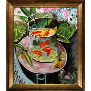 Henri Matisse 'The Gold Fish' Hand Painted Framed Canvas Art