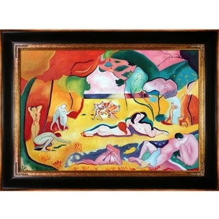 Henri Matisse 'The Joy of Life' Hand Painted Framed Canvas Art