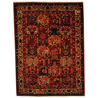 Herat Oriental Persian Hand-knotted Bakhtiari Red/ Ivory Wool Rug (4'8 x 6'4)