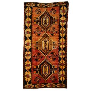 Herat Oriental Persian Hand-knotted Tribal Shiraz Light Purple/ Navy Wool Rug (4'4 x 6'5)