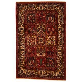 Herat Oriental Persian Hand-knotted Bakhtiari Red/ Ivory Wool Rug (4'3 x 6'6)