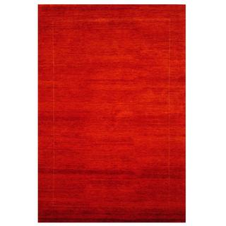Herat Oriental Indo Hand-knotted Gabbeh Rust/ Gold Wool Rug (5' x 7'2)