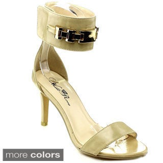 Wildrose Women's 'Jazmin-05' Metallic Ankle Cuff Heel