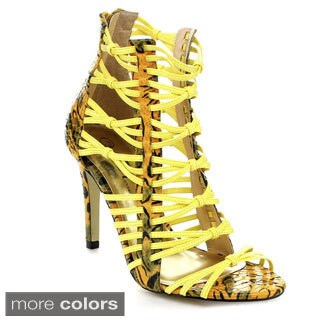 Wildrose Women's 'Jessie-17A' Caged Stiletto Heel