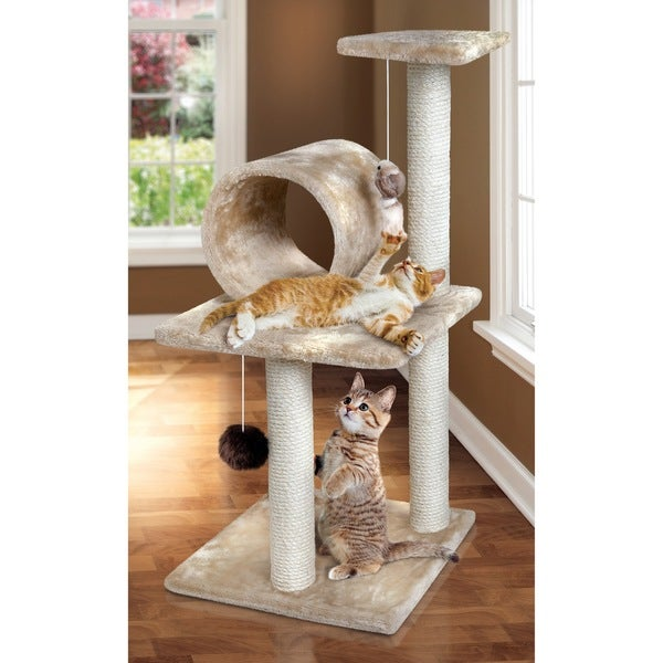 Animal Planet Three-Tier Cat Tree with Scratching Posts