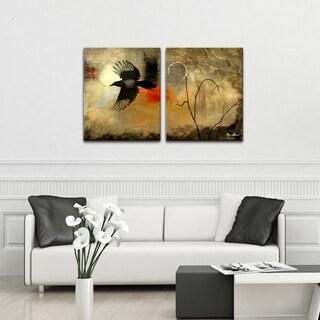 Alexis Bueno 'Silouette II' Canvas Wall Art (2-piece)