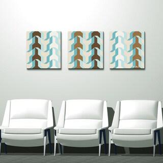 Alexis Bueno 'Geometric Study XX' Canvas Wall Art (3-piece)