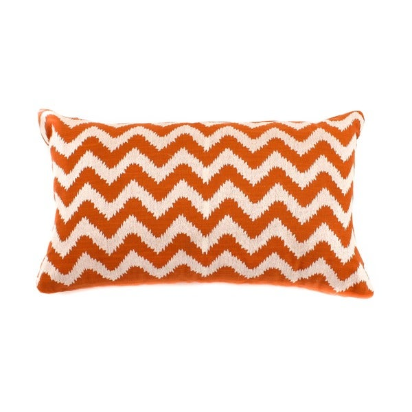 12 x 20-inch Rust Zig-zag Decorative Throw Pillow