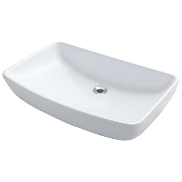 Polaris Sinks P053VW White Porcelain Vessel Sink - 16273384 ...