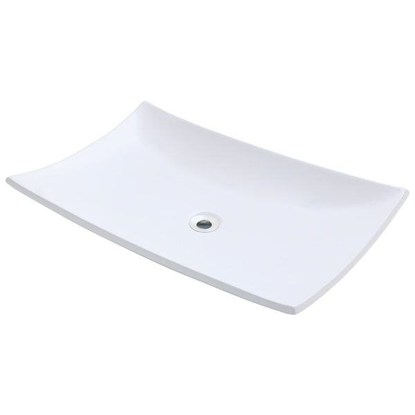 Polaris Sinks P063VW White Porcelain Vessel Sink - 16273385 ...